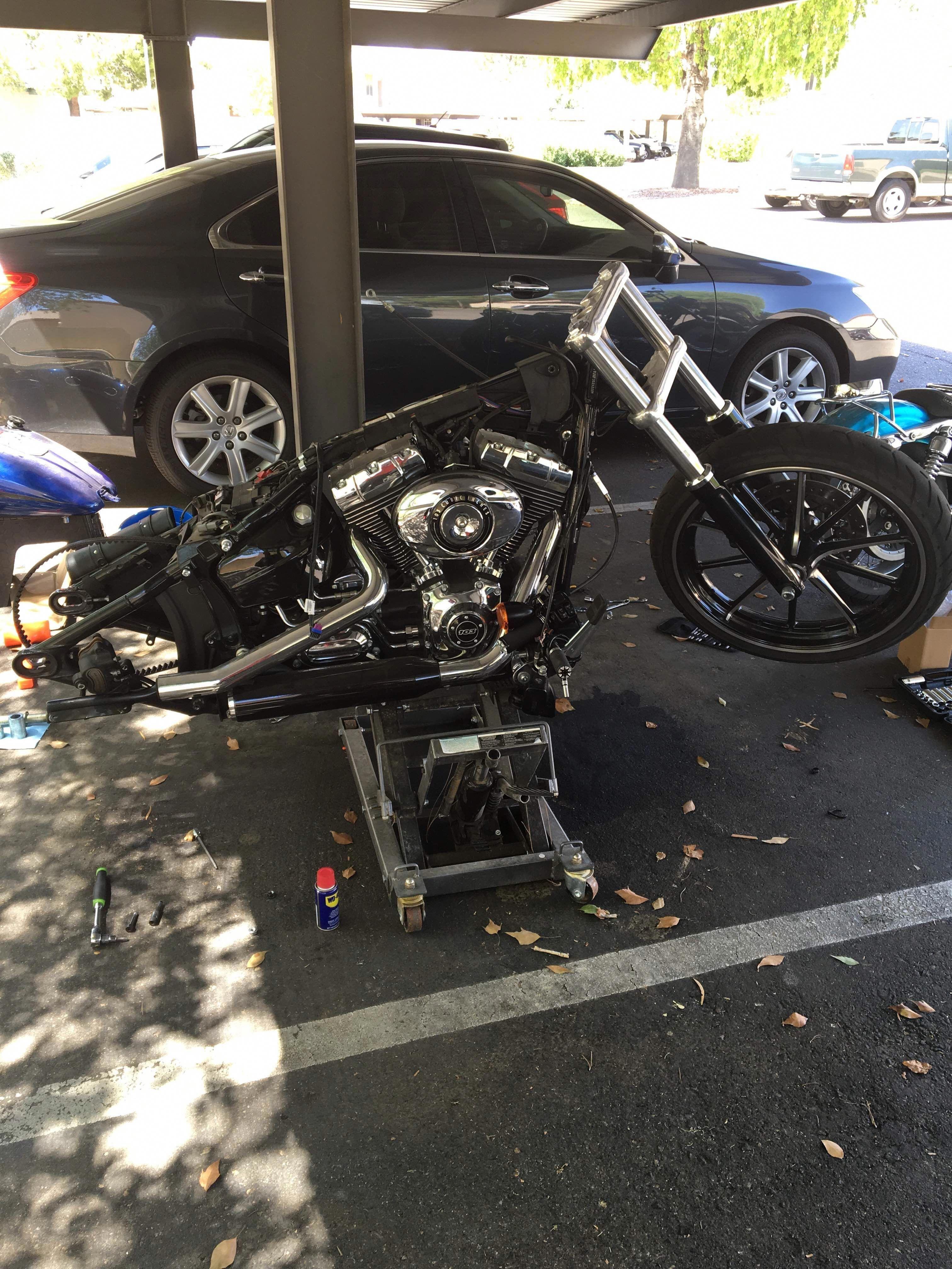 2015 Harley Davidson Softail Breakout    stripping her down