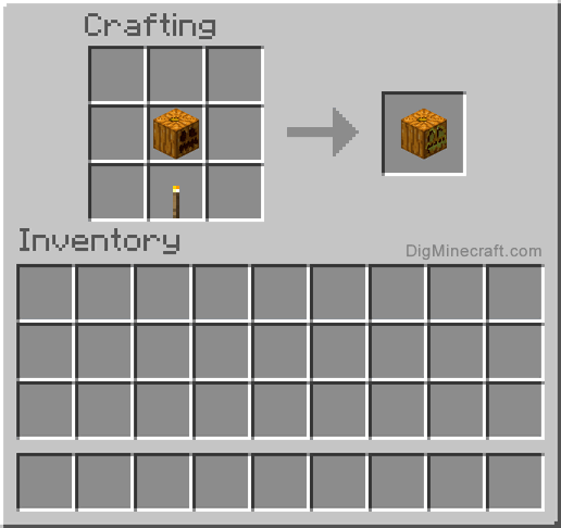 How To Make A Jack O Lantern In Minecraft And More Crafting Recipes Minecraft Crafting Recipes Minecraft Minecraft Crafts