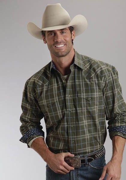 7c96c7cae4c WildGrass Plaid   Men s Stetson® Western Shirt