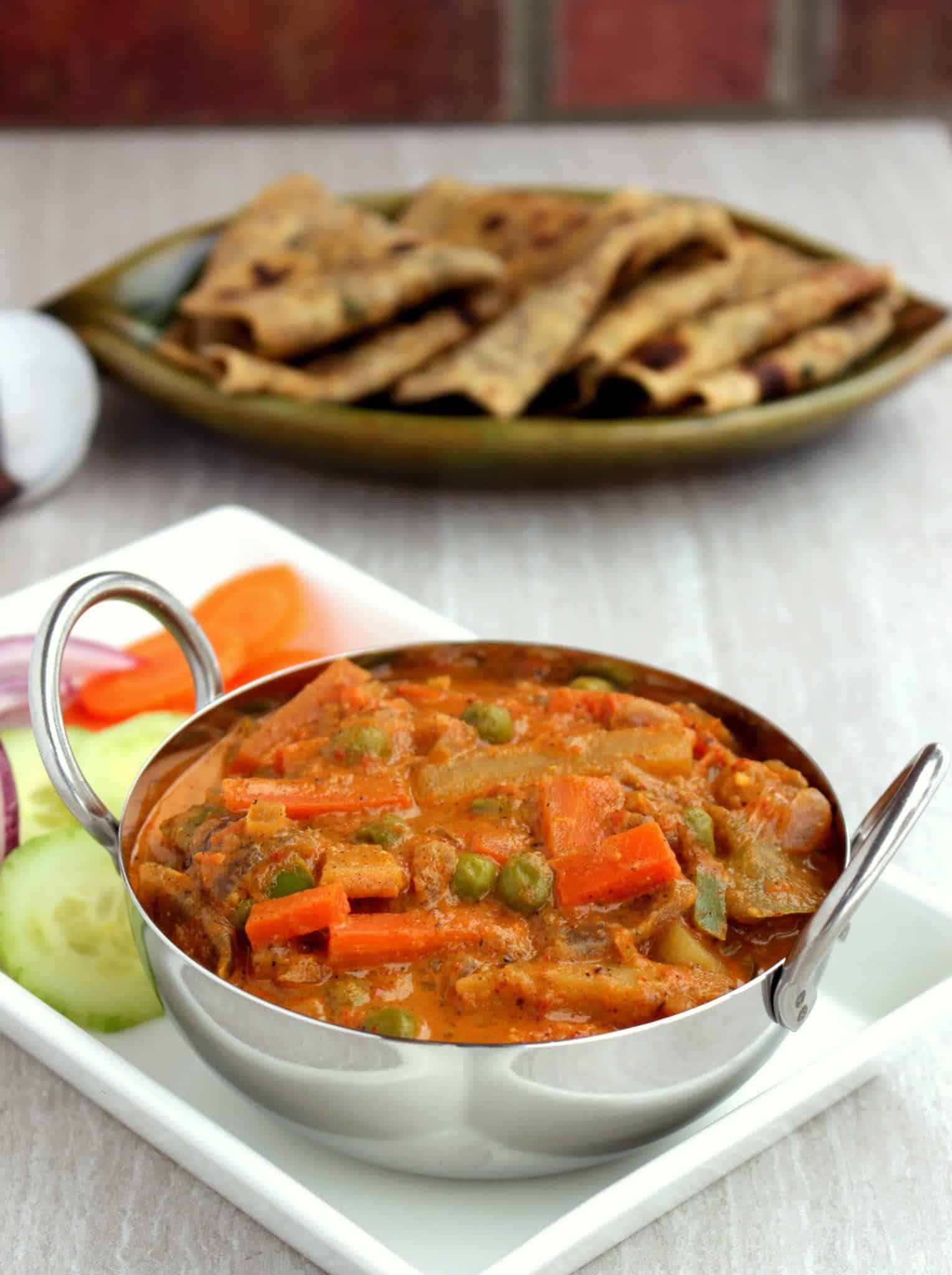 Kadai Vegetable Subzi   Restaurant style Kadai Vegetable ...