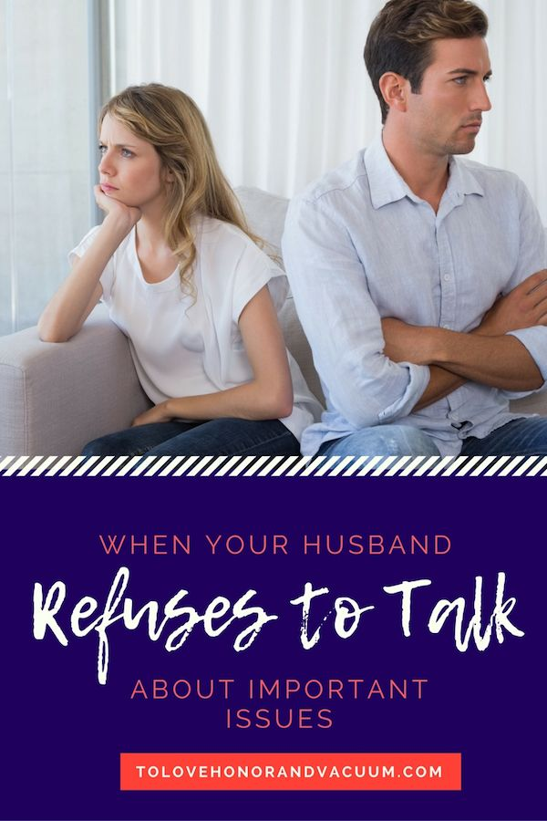wife refuses to talk about relationship