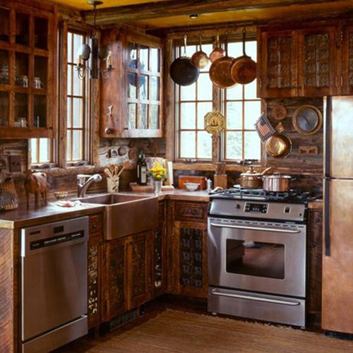 Exceptionnel The Perfect Country Kitchen. Small Cabin Decor, Small Log Cabin, Small Cabin  Interiors
