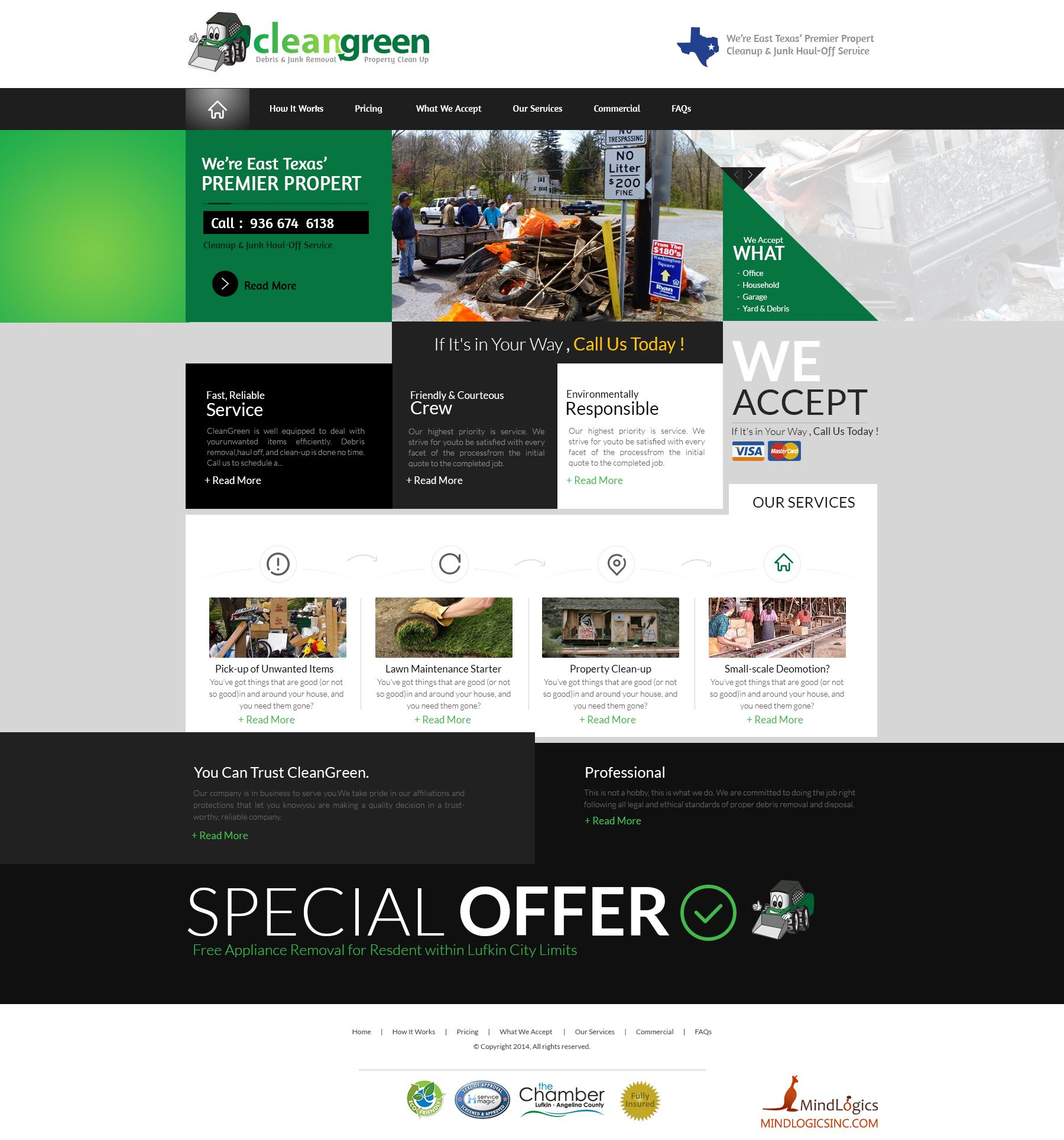 """i created this """"Web"""" design for """"Clean Green"""". Please review and give your kind comments. Don't forget to make this favourite if you like. Thansk for watching."""
