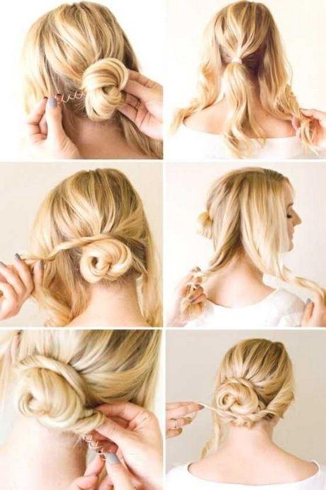 Leichte Hochsteckfrisuren Für Mittellanges Haar Haare Pinterest