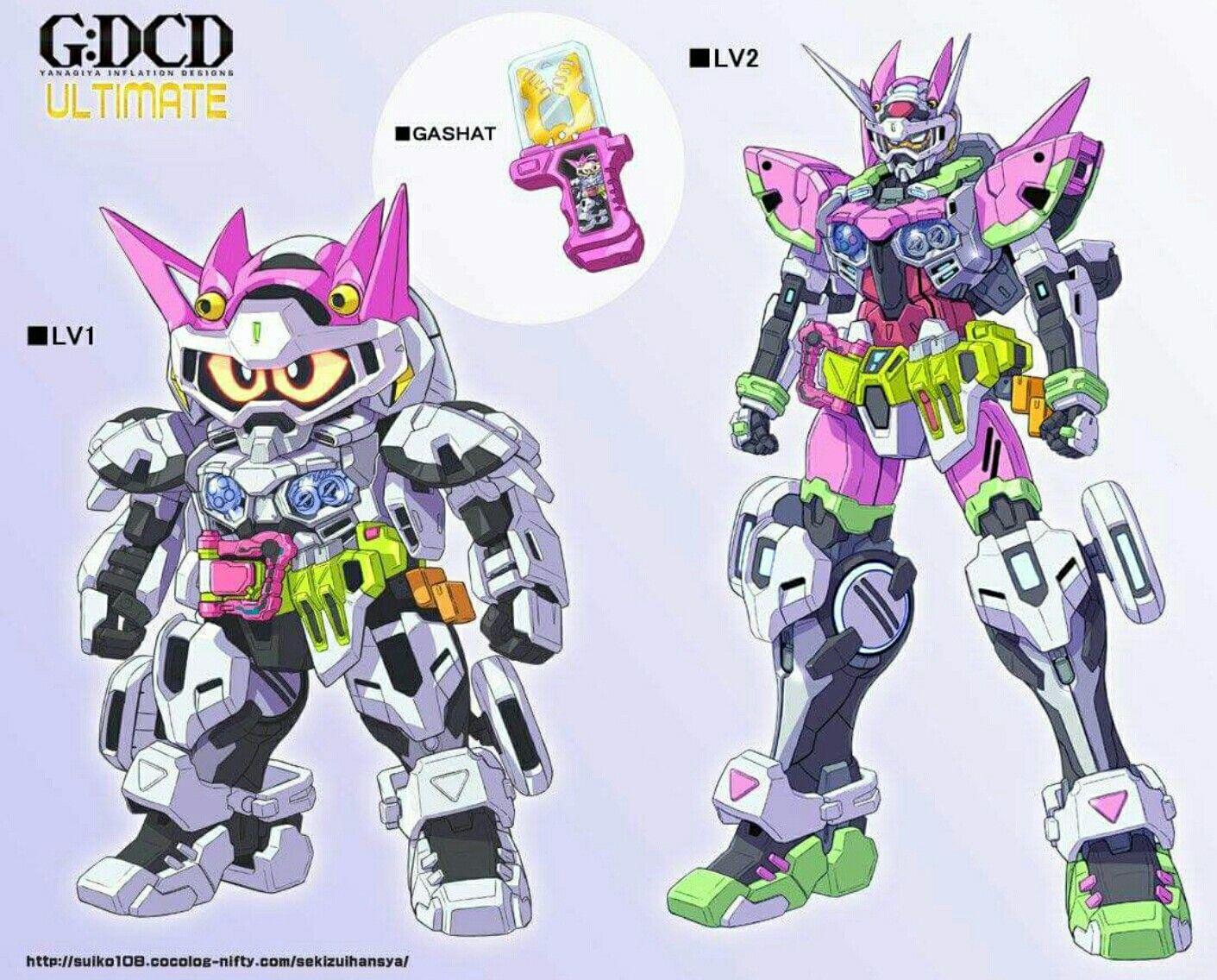 Kamen rider Exaid lvl 1&2 GundamVer image Pinterest