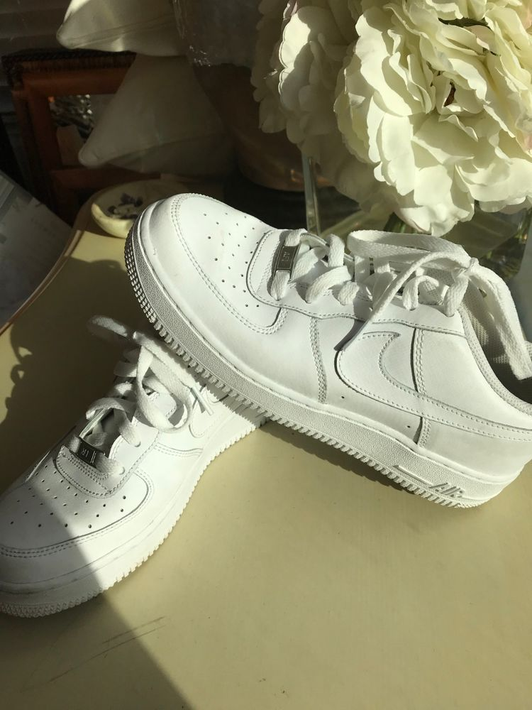 Nike Air Force 1 Low All White, Men's 6