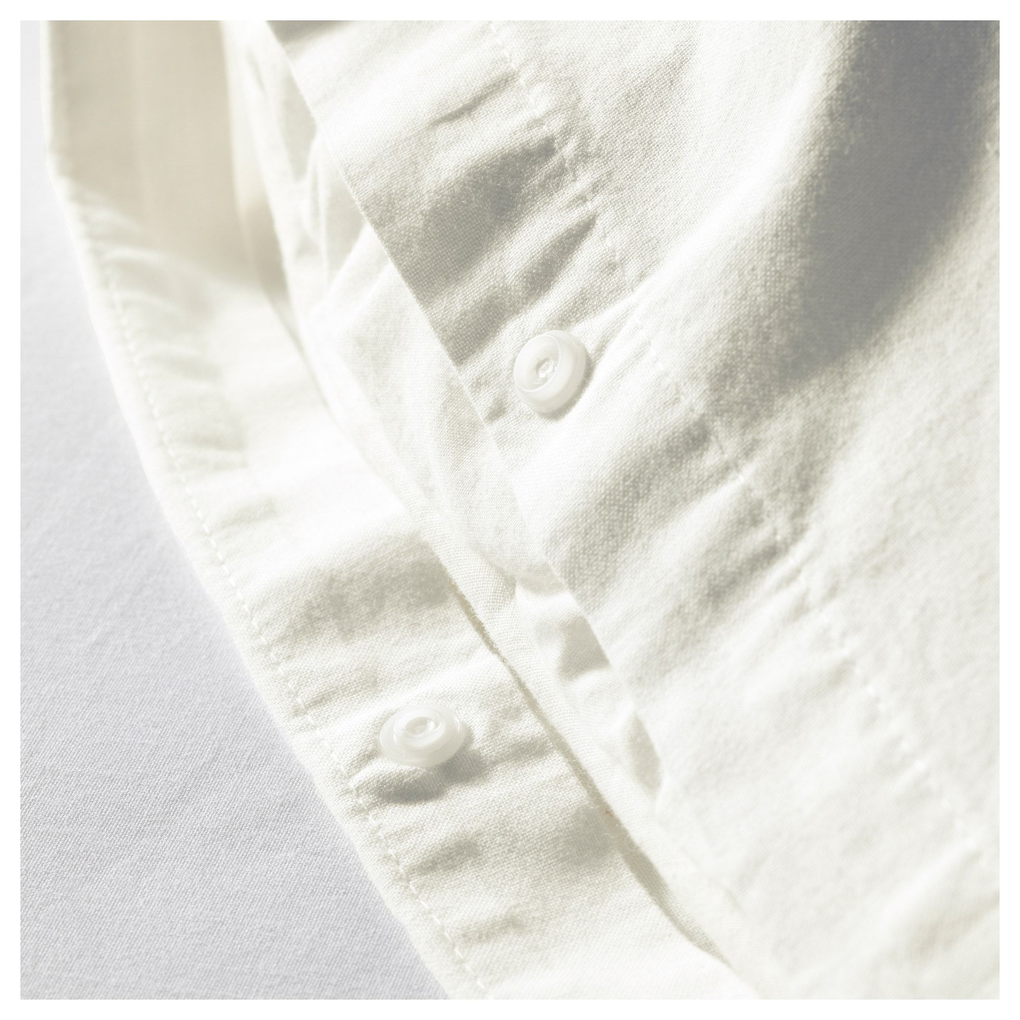 Photo of ÄNGSLILJA Duvet cover and pillowcase(s), white, Full/Queen (Double/Queen) – IKEA