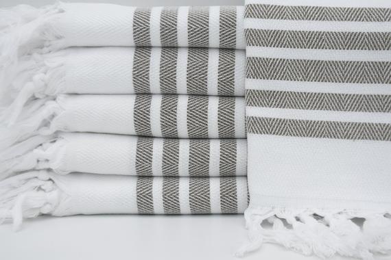 Peshkir,Turkish Towel,Dish Towel,White Hand Towel,Kitchen Decor,Tea Towel,Striped Hand Towel,Face Towel,18x36,Kitchen Towel,K2-balıksırtıH #dishtowels