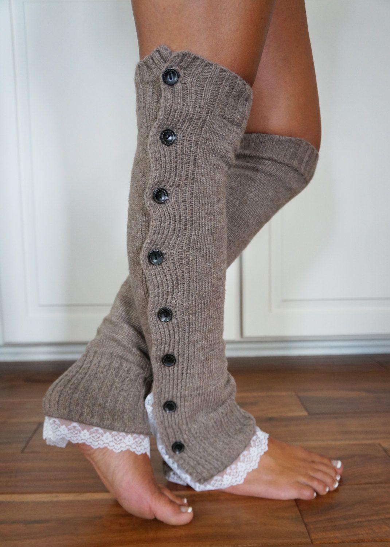 Knitted Leg Warmers For Women Crochet Lace Rope Boot Cuffs Ivory Leg Warmer Woman Boho Boots Socks Lady Winter Boot Toppers Leg Warmers