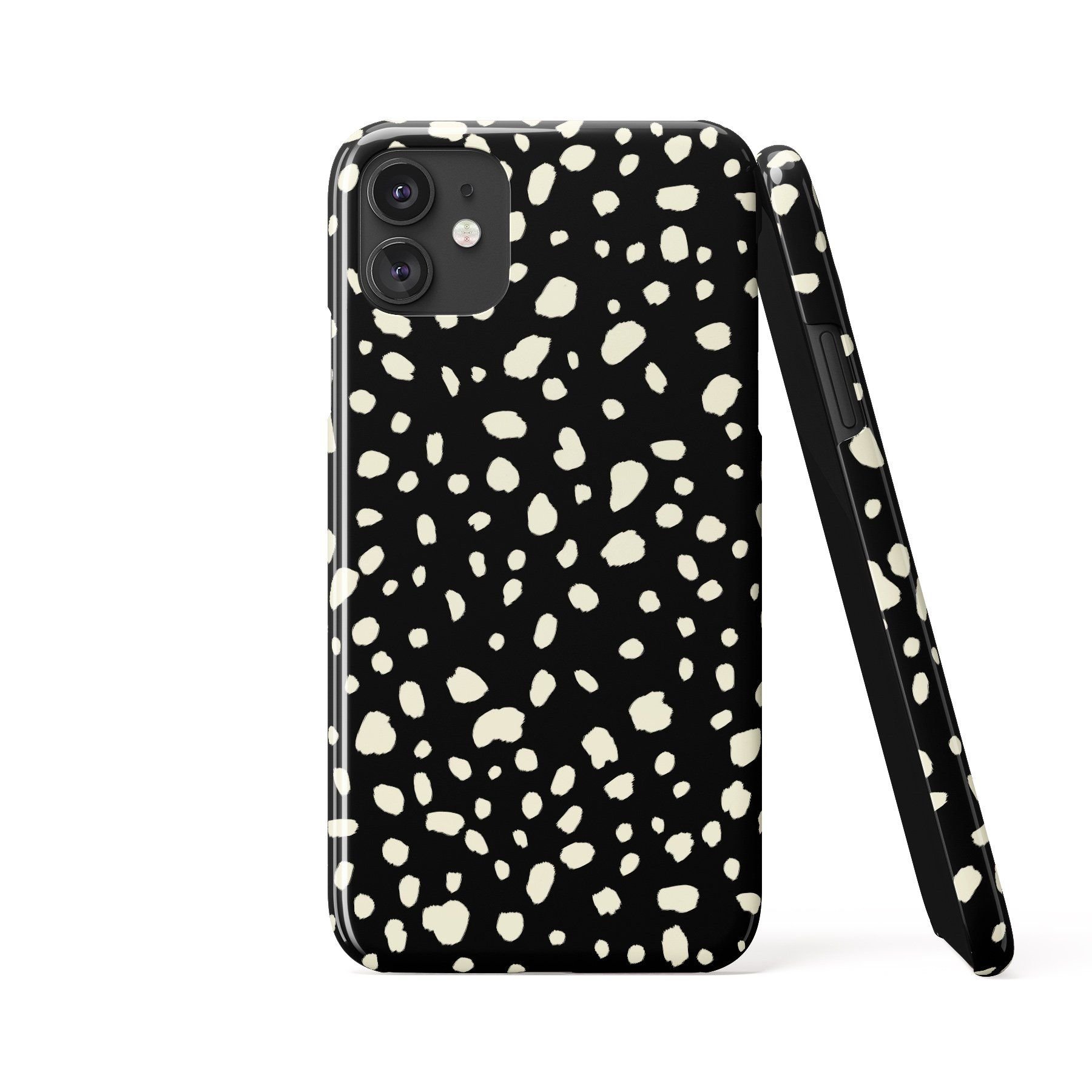 DALMATIAN SPOTS Black Phone Case - Samsung S20 / Tough Case - Gloss