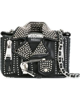 b9f9dcd469 Don't miss our deals and low prices! $1,995.00 for moschino biker jacket  crossbody bag - black.