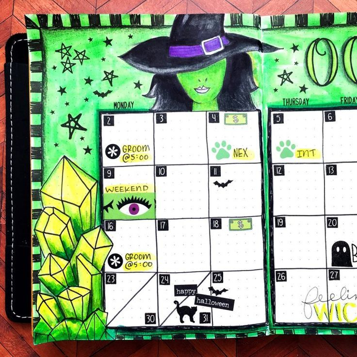 29 Spooky Halloween Bullet Journal Layouts and Spreads #halloweenbulletjournal