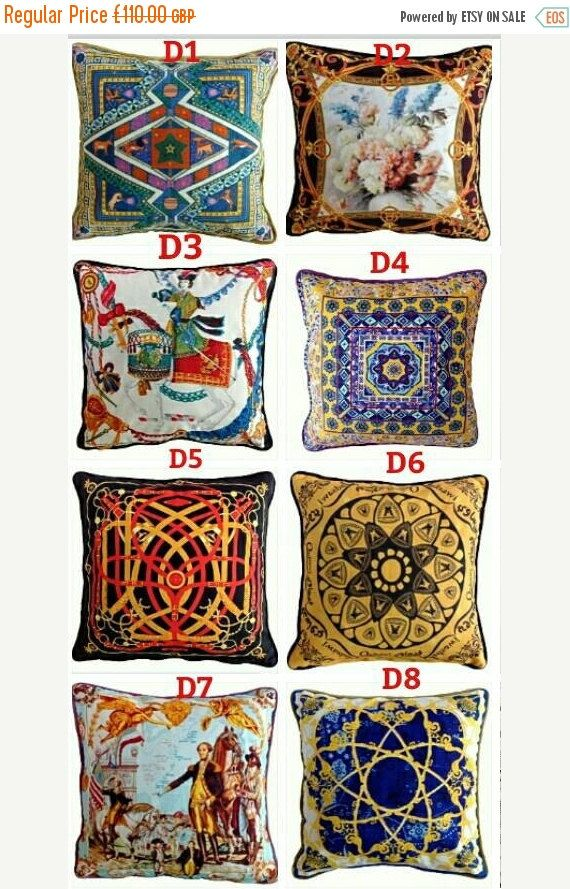 ON SALE Velvet cushion covers Hermes versace pair by Home2Dress ...