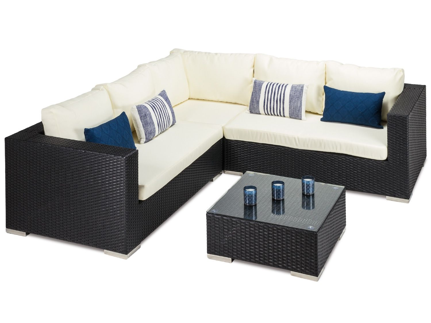 Black Rattan Garden Corner Sofa And Coffee Table All Weather Black Pe Rattan For Out Rattan Corner Sofa Black Rattan Garden Furniture Rattan Garden Corner Sofa - Dfs Garden Furniture Clearance