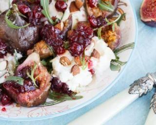 Salade de figue légère à la roquette et aux amandes