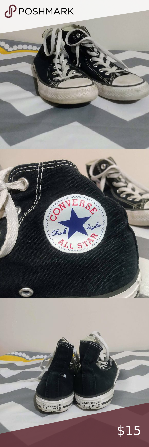 converse high tops youth size 3