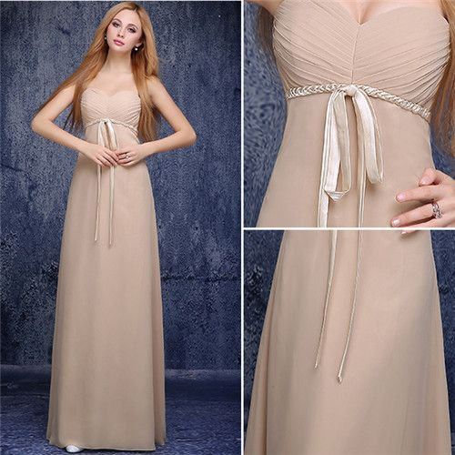 Take a tour through champagne bridesmaid dresses in different styles. By the end of the tour, you will surely figure out what exactly you need for your bridesmaids.