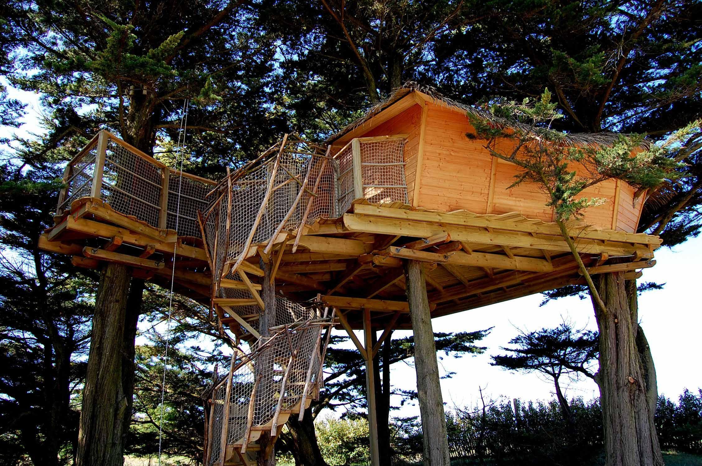 cabane en l air elegant vous aimez dormir dans les arbres isols en pleine nature etre berc par. Black Bedroom Furniture Sets. Home Design Ideas