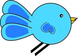 clipart image the bluebird of happiness a cute cartoon bird birds rh pinterest com