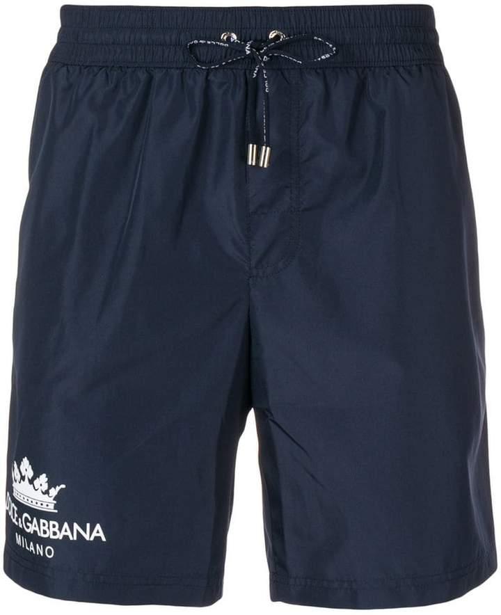 08f0b7b24b Dolce & Gabbana logo print swim shorts in 2019   Products   Dolce ...
