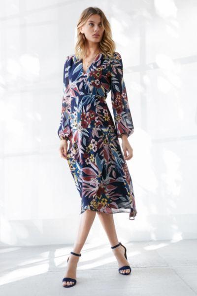 538fa1f8022d Bardot Botanic Print Wrap Dress | Dresses | Dresses, Urban dresses ...