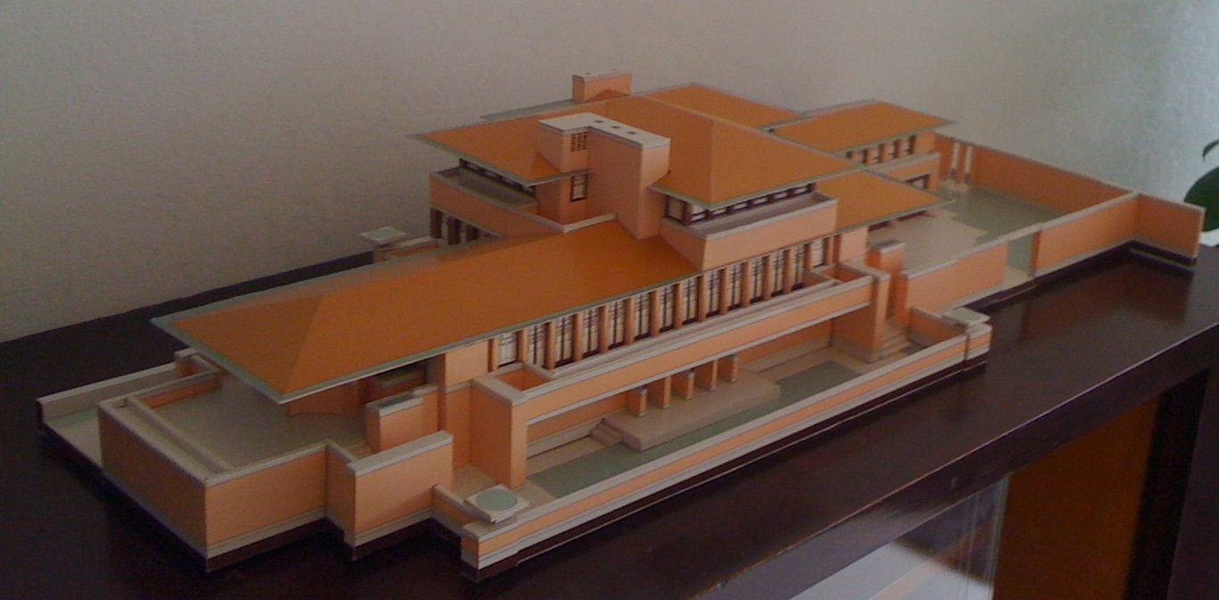 F l wright robie house chicago 1908 10 architectural models pinterest house