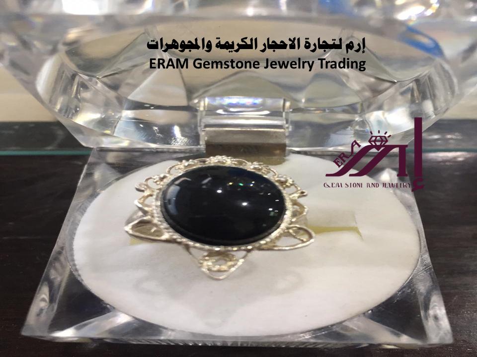 خاتم عقيق يمني نسائي اسود طبيعي 100 Agate Gemstones Gemstone Jewelry Jewelry
