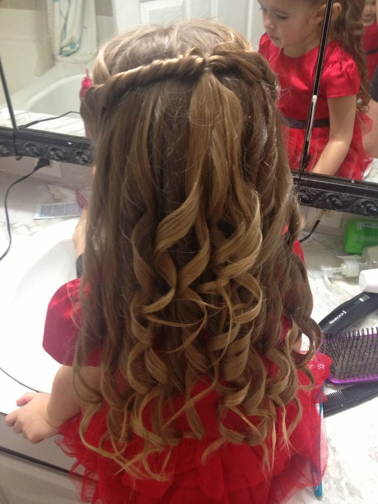 Cute little girls hair style for a special occasion #