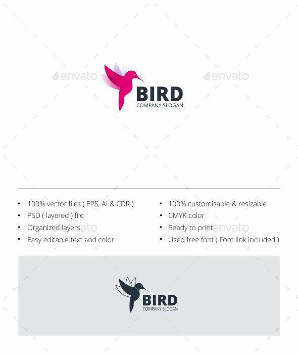 Download Free Graphicriver Bird Logo #animal #bird #birdlogo