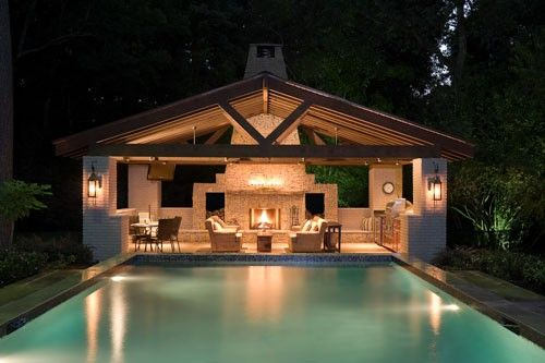 If you really want to own the house of your dreams, you have to have a pool house
