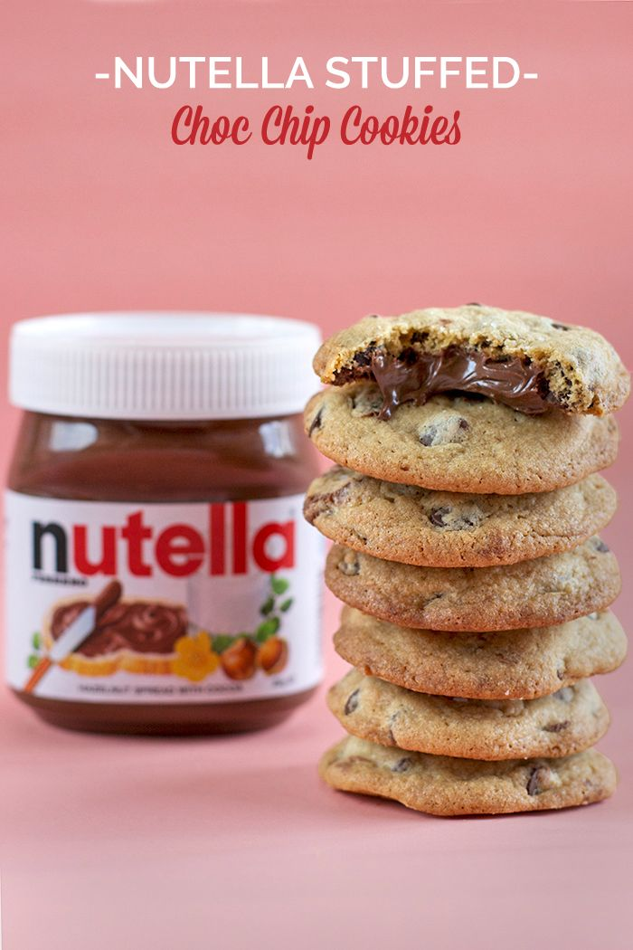 chocolate chip cookies nutella recept