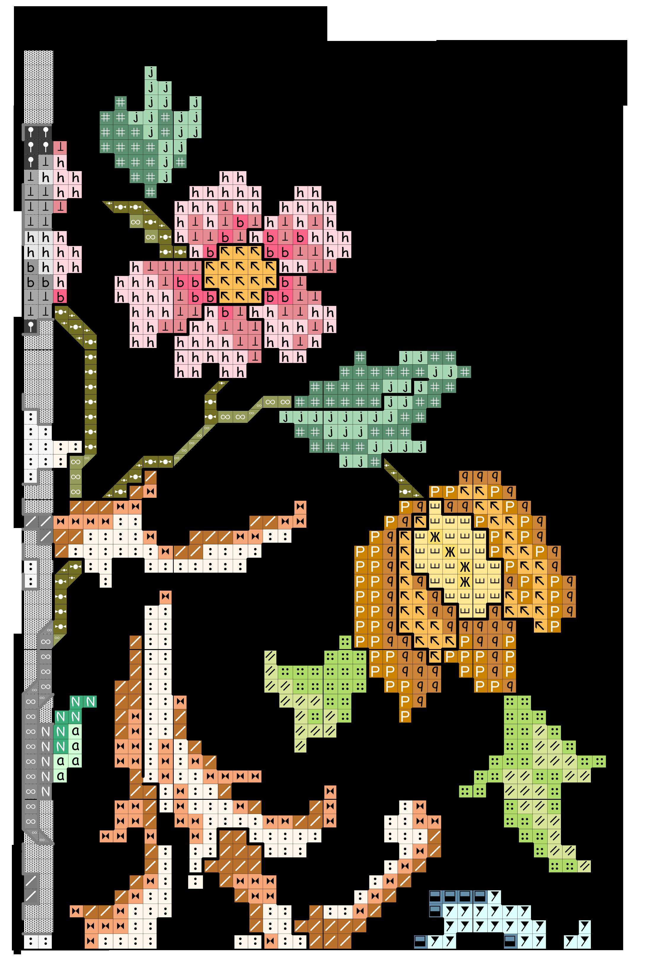 Abc grande contornato da fiori F2