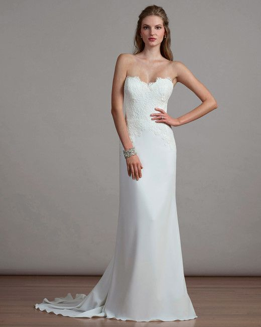 Crepe Sweetheart Wedding Dress