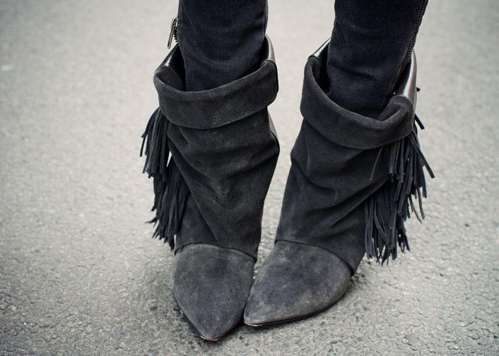Isabel Marant Shoes Obsession Fringe Ankle Boots Isabel Marant Boots Womens Boots Ankle