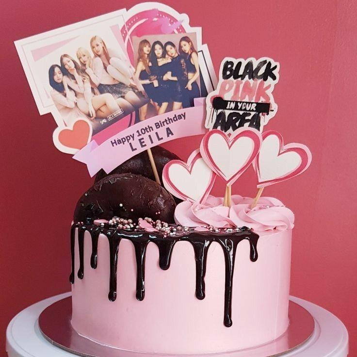 Blackpink Birthday Cake Birthday Celebration Kpop Birthday Blackpink Party Bts Cake Birthday Party Cake Cake