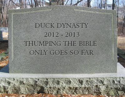 Duck Dynasty Tombstone #2 Bible Thumping | Meme's | Birthday gag