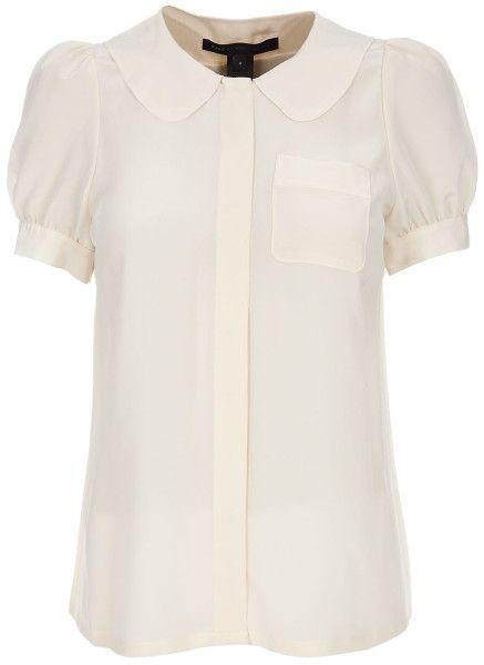 31b92d9b4b54a2 Marc By Marc Jacobs Peter Pan Collar Shirt in White (cream) - Lyst ...