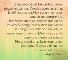 Letras De Canciones Alejandro Sanz Cuando Nadie Me Ve