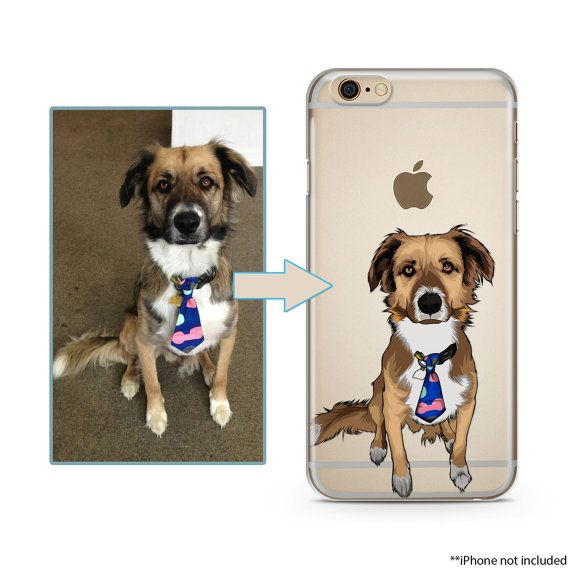 Custom illustrated Dog iPhone Case Hand Drawn by lilidesigners