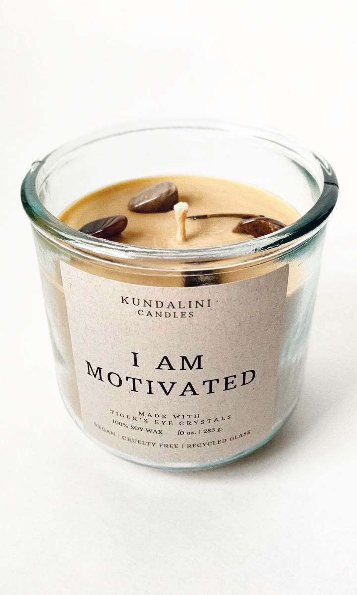 Motivated Affirmation Soy Candle | New Years Resolution
