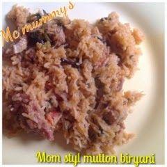 MMR - Mom made Recipes: Mutton biryani