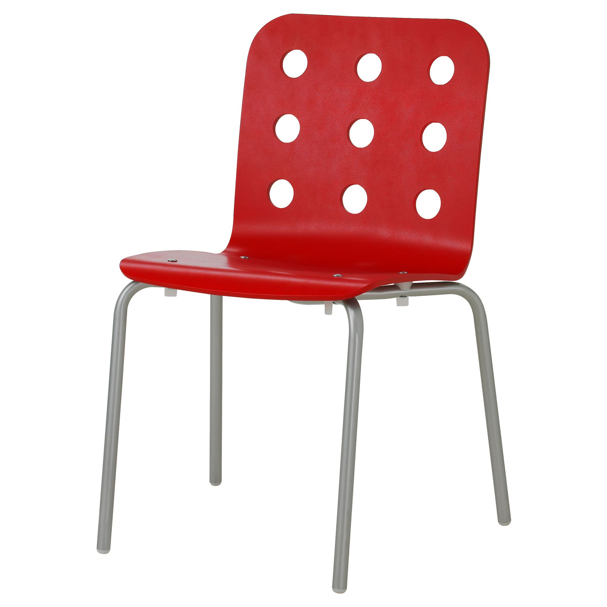 Colorful Desk Chairs Jules Visitor Chair Red Silver Color Ikea21 1 4 Quot 34