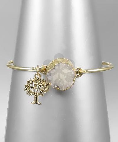 Druzy and Tree Bangle
