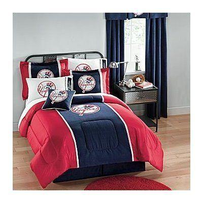 Ny Yankees Queen Comforter Sheets Shams Bedskirt 8 Piece Bed In A Bag By Ny Yankees 179 99 1 Bedskirt Yankee Bedroom Full Bedding Sets Yankee Room