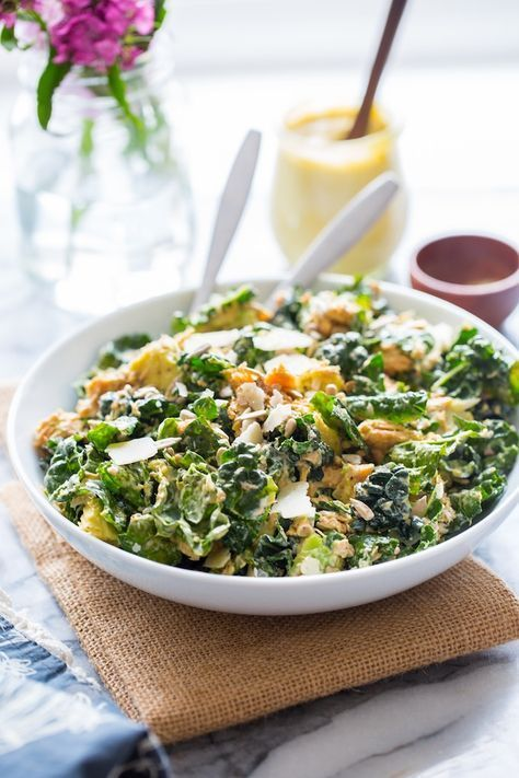 Salmon And Kale Caesar Salad Recipe Canned Salmon Recipes Canned Salmon Salad Smoked