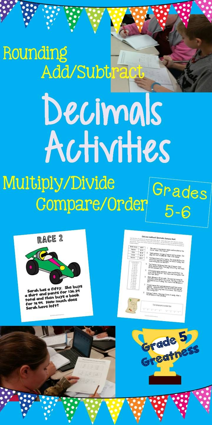 Decimals Activities and Math Games | Activities, Students and Math