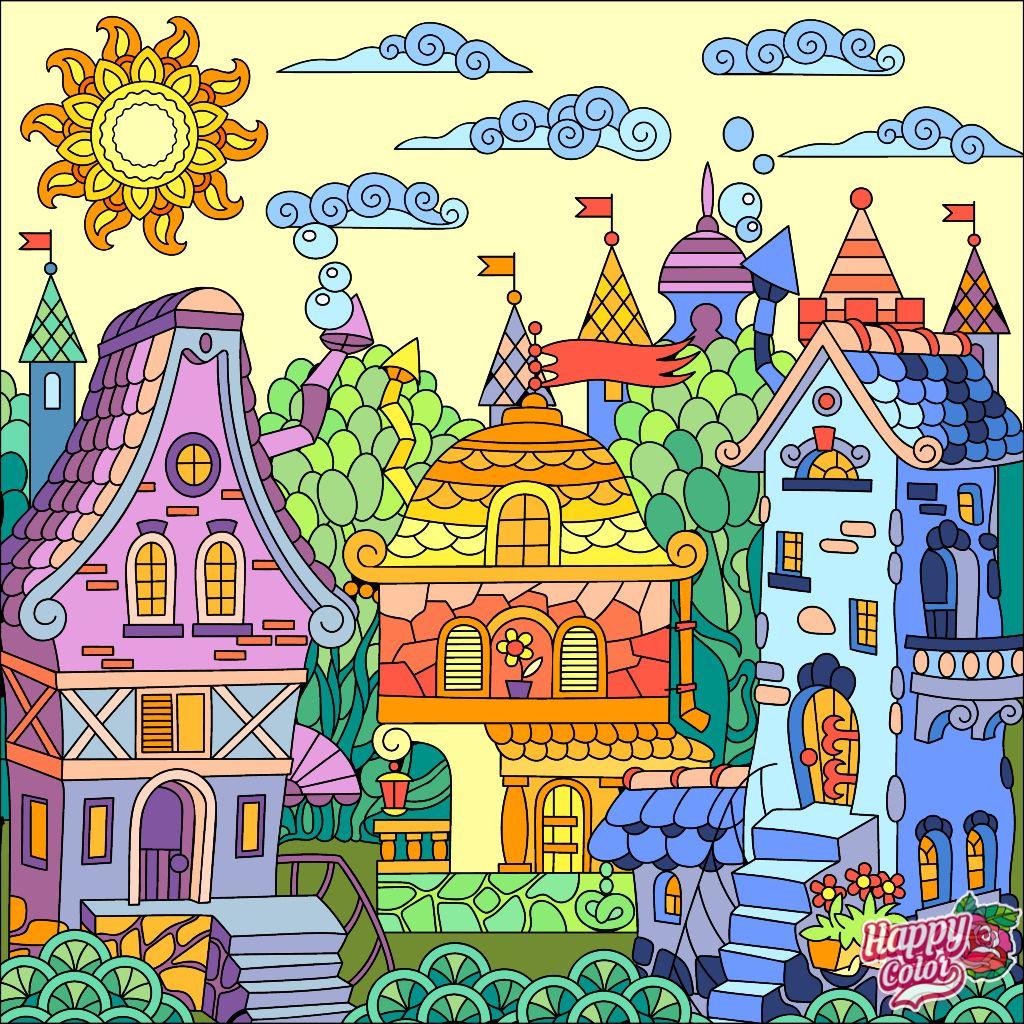 3/23/19: Happy Color app | Раскраски, Иллюстрации и ...
