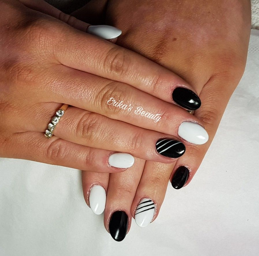 Black and white nails uv gel extensions erikas beauty my nail black and white nails uv gel extensions nail art designsbeauty prinsesfo Gallery