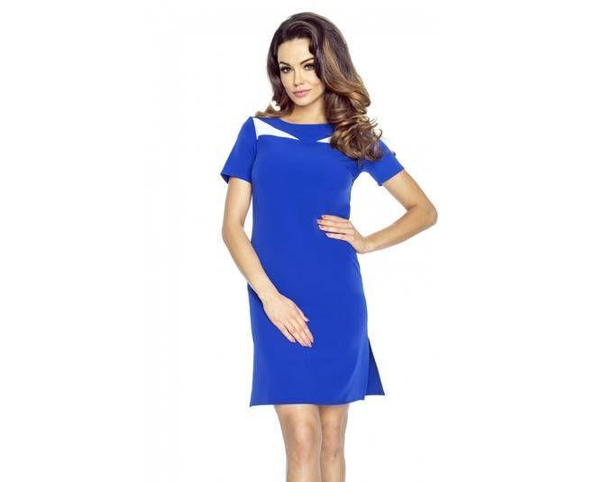 Clea Klassisches einfaches Kleid mit Schlitzen auf beiden Seiten ...