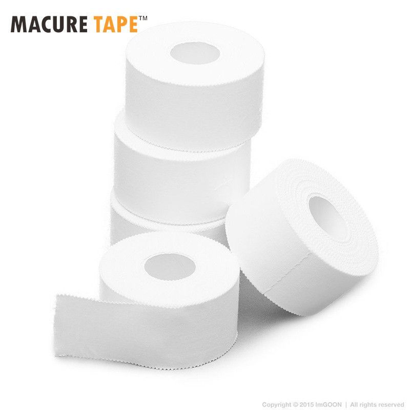 Sports Tape Athletic Cloth White 12 Rolls Bulk Pack